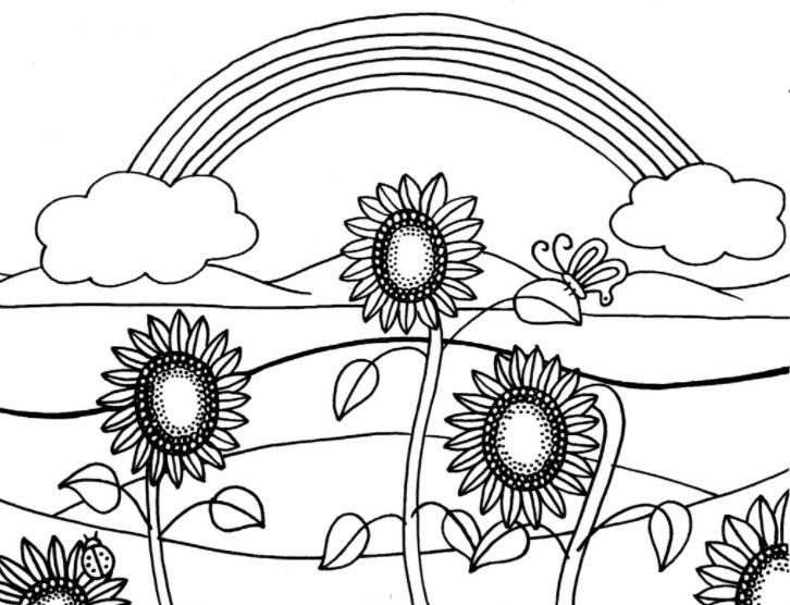 Hot Summer Day Coloring Page coloring page & book for kids.