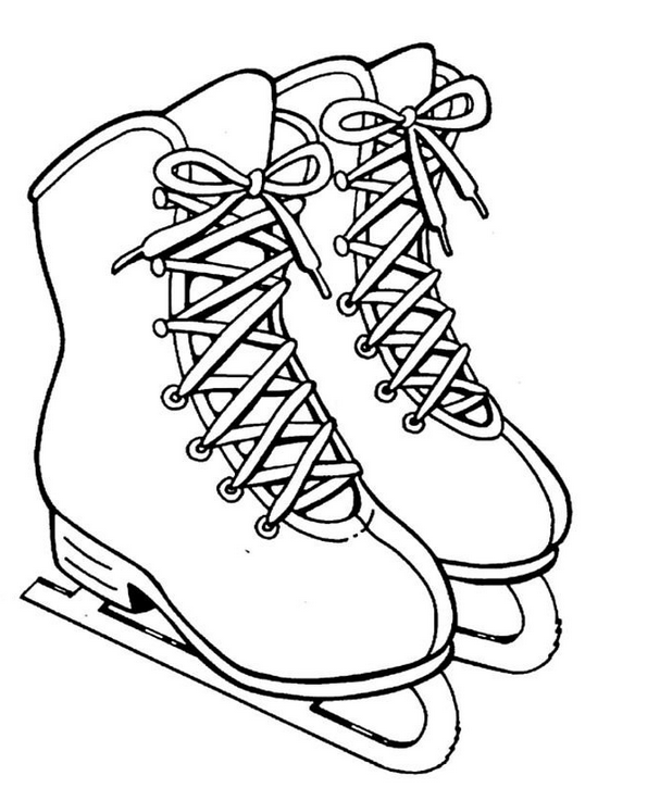 ice skate coloring pages Ice Skates Coloring Page coloring page & book for kids. ice skate coloring pages