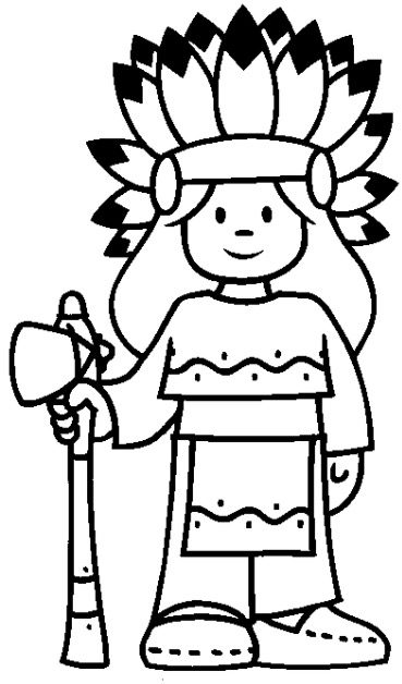 Indian Coloring Page Coloring Page Book For Kids