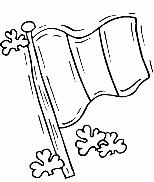 Irish Flag Coloring Page Coloring Page Book For Kids