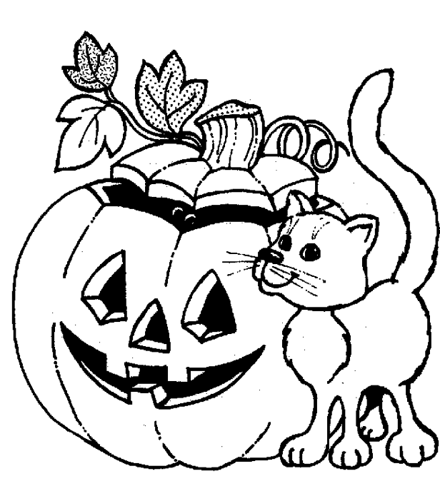Jack o lantern coloring book for Jackolantern coloring pages