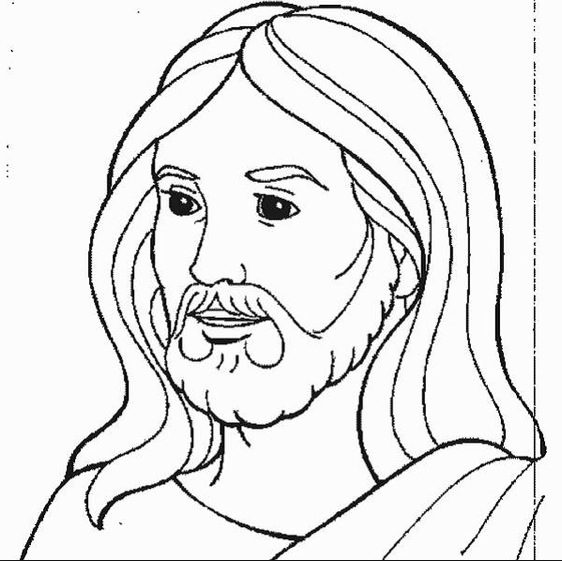 Jesus Coloring Page coloring page