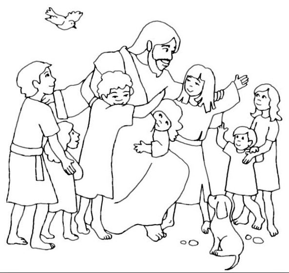 friends of jesus coloring pages - photo#30