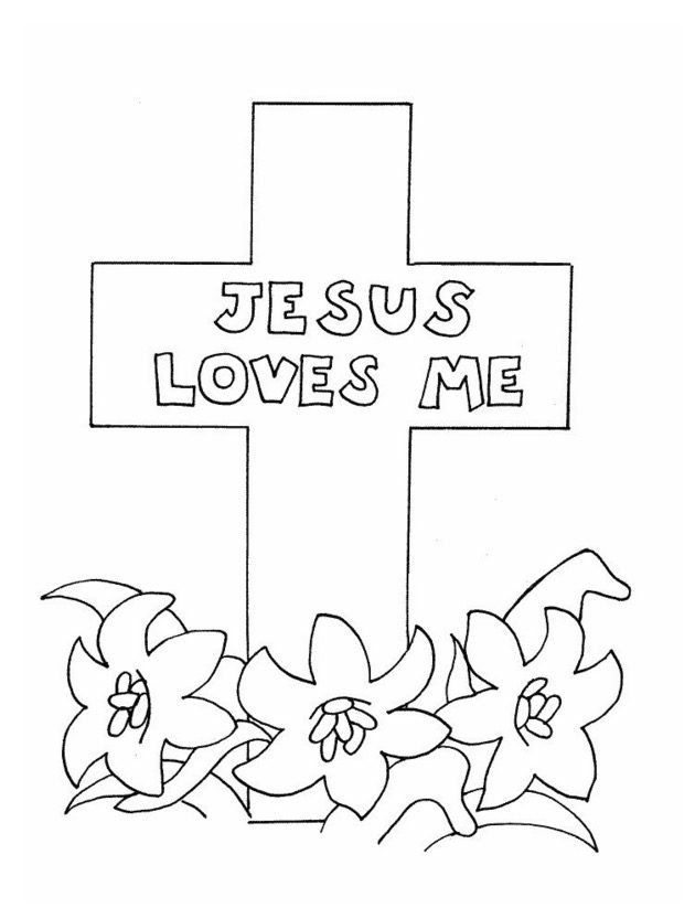 Jesus Loves Me Coloring Page coloring page & book for kids.