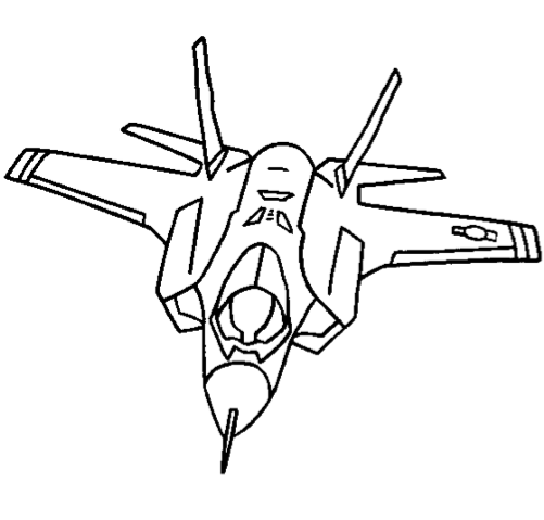 Jet Coloring Page coloring page & book for kids.