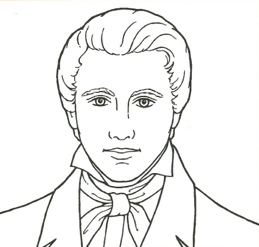 joseph smith coloring pages Prophet Joseph Smith Coloring Page coloring page & book for kids. joseph smith coloring pages