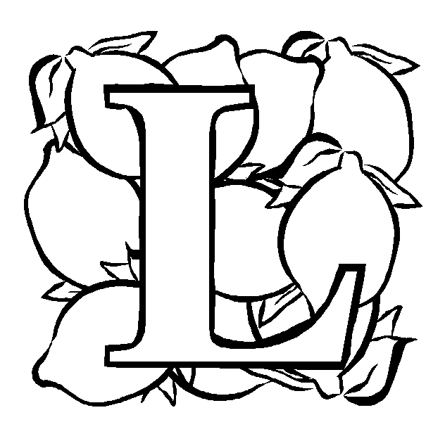 L Coloring Page Book