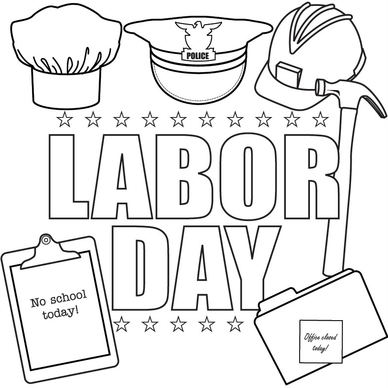 photograph about Labor Day Word Search Printable known as Labor Working day Coloring Web page coloring webpage e book for small children.