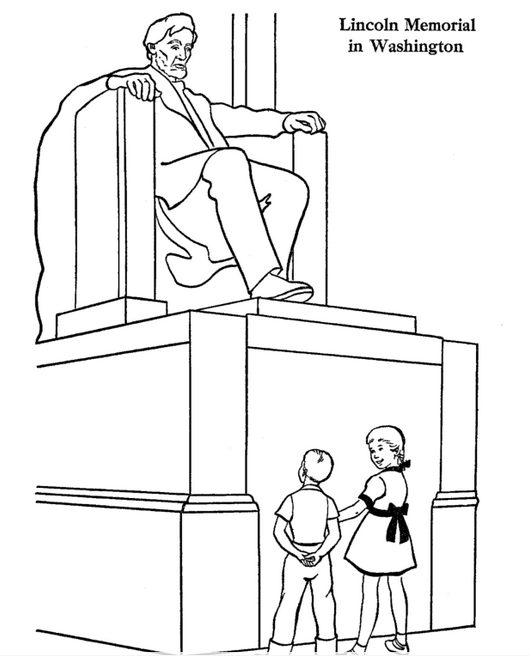 Lincoln Memorial Coloring Page coloring page & book for kids.
