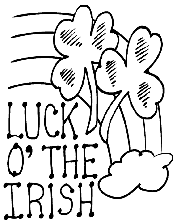 Luck Of The Irish Coloring Page Coloring Page Book For Kids