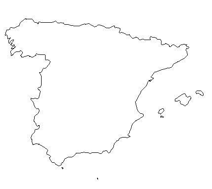 Spain Map Coloring Page.Map Of Spain Coloring Page Book For Kids