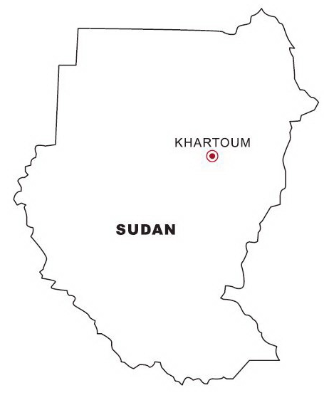 Map of Sudan Coloring Page coloring