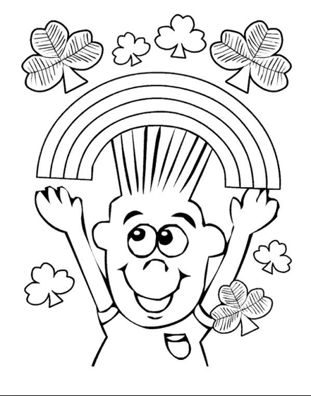 Happy March Coloring Page coloring page & book for kids.