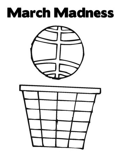 March Madness Coloring Page coloring page & book for kids.