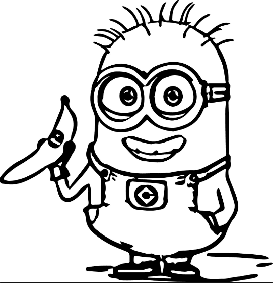 minions coloring page
