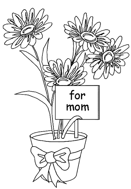Mother 39 s Day Flowers Coloring Page