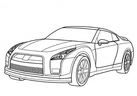 Nissan Gtr Coloring Page Coloring Page Book For Kids