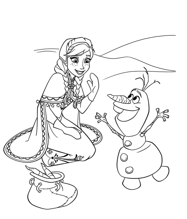 Frozen Olaf Coloring Page coloring page & book for kids.