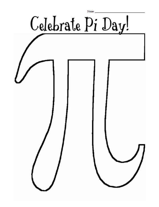photo relating to Pi Day Worksheets Printable identified as Pi Working day Coloring Site coloring webpage e book for youngsters.