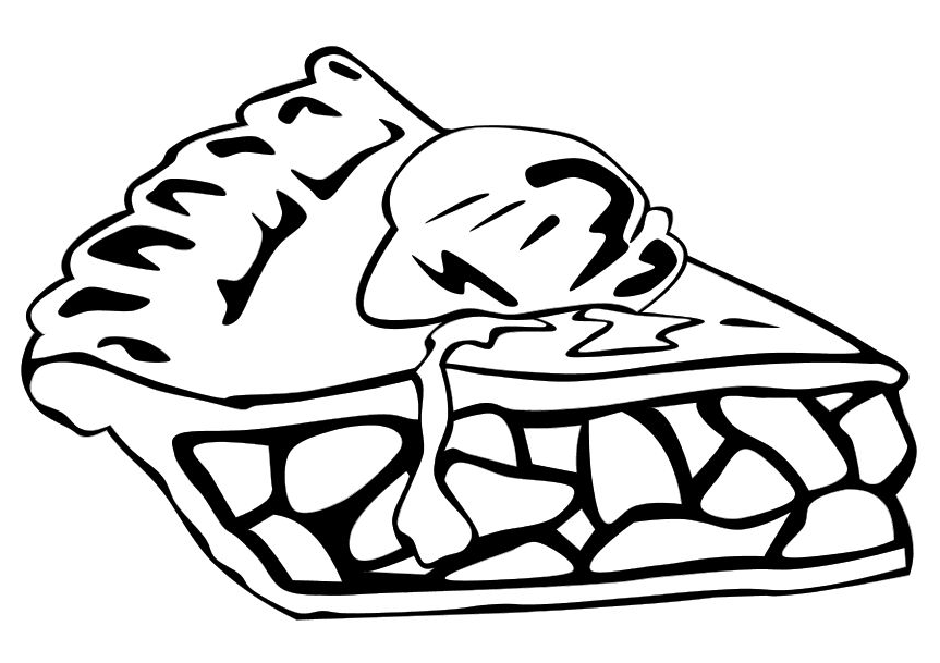 Pie Coloring Page coloring page & book for kids.