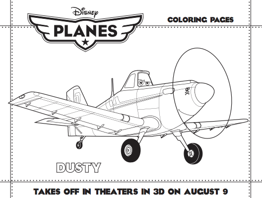 Planes Dusty Coloring Page Coloring Page Book For Kids