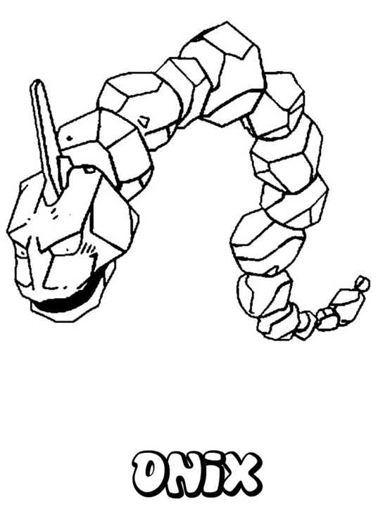 Pokemon Onix Coloring Page Coloring Page Book For Kids