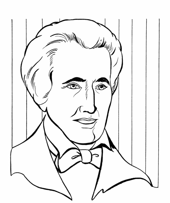 President Andrew Jackson Coloring Page Coloring Page