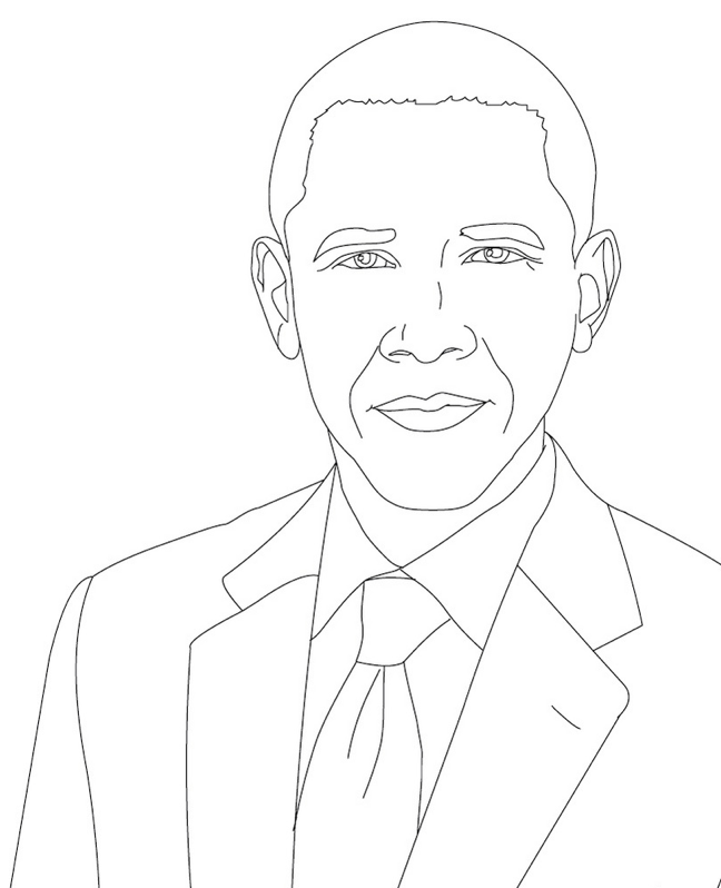 President Barack Obama Coloring Page Book