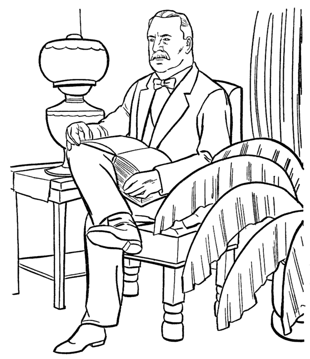 President Grover Cleveland Coloring Page & Coloring Book