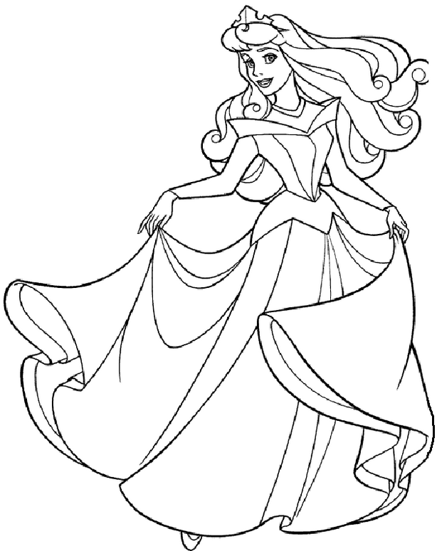 Princess Coloring Page Coloring Page Book For Kids