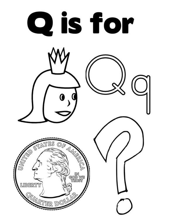 Q Coloring Page Coloring Page Book For Kids