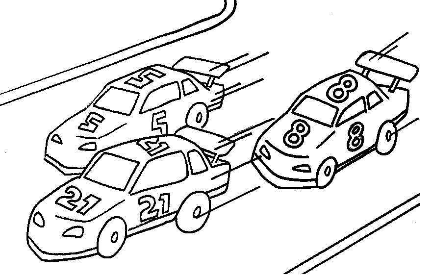 Racing Cars Coloring Page coloring page book for kids