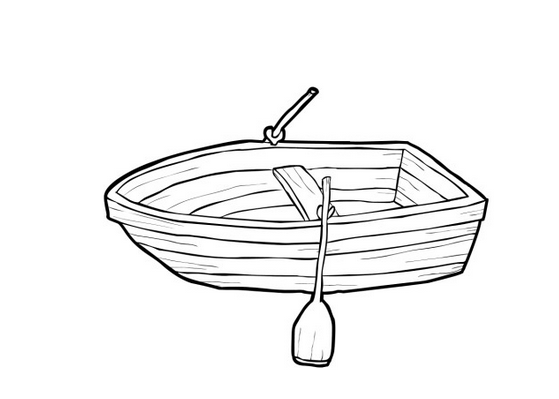 Row Boat Coloring Page coloring page & book for kids.