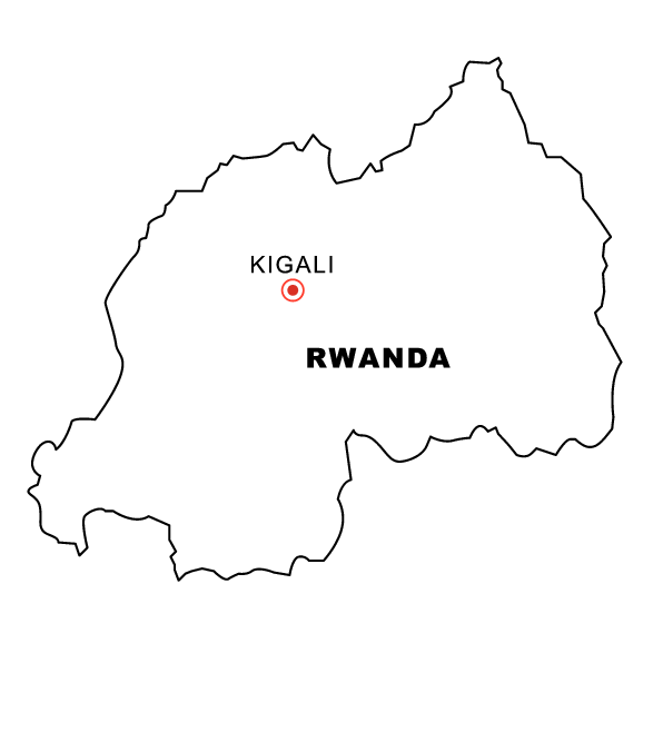 Rwanda Map Coloring Page Amp Book For Kids