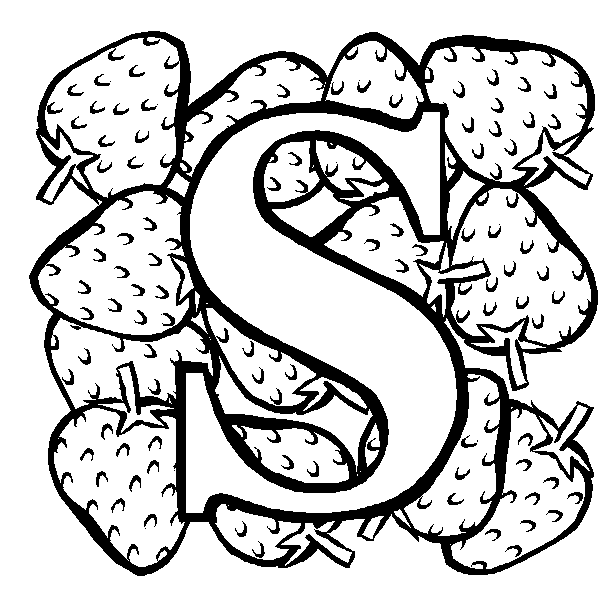 S Coloring Page Coloring Page Book For Kids