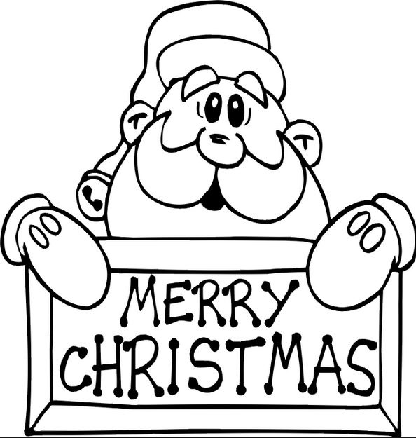 630 Coloring Pages Christmas Santa Download Free Images