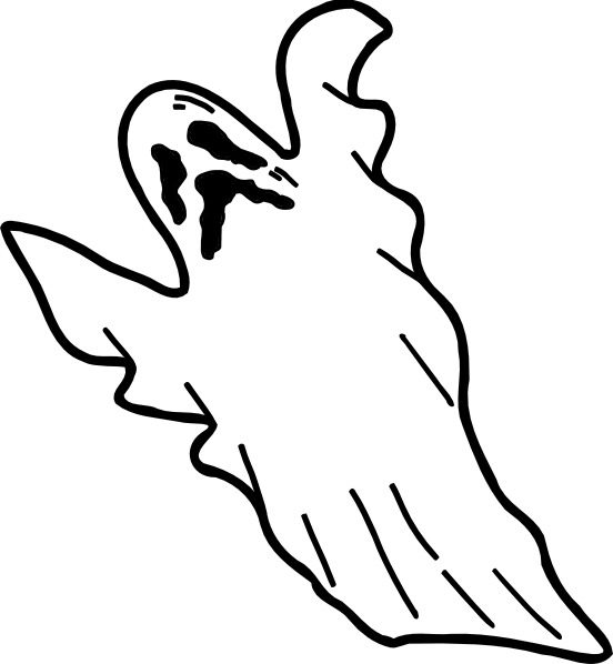 Scary Ghost Coloring Page Coloring Page Book For Kids