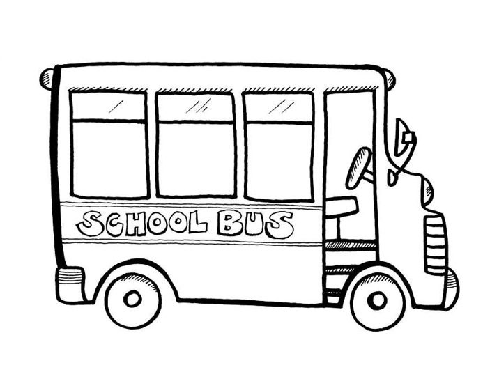 - School Bus Coloring Page Coloring Page & Book For Kids.