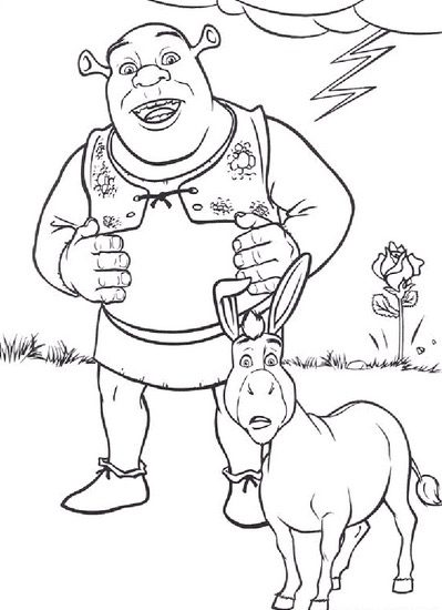 Free Donkey Coloring Page, Download Free Clip Art, Free Clip Art ... | 550x399