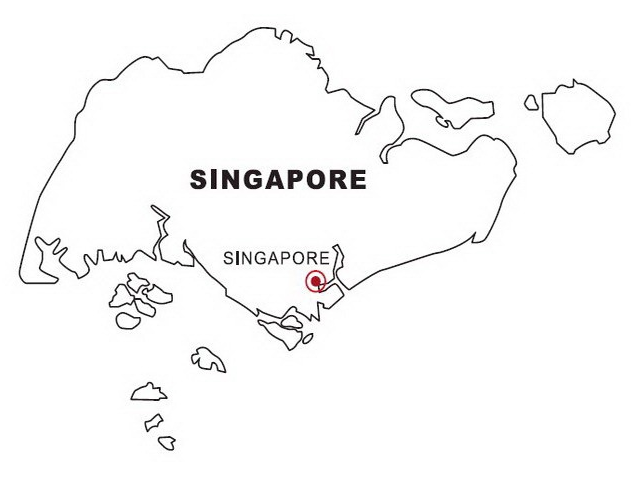 Map Of Singapore Coloring Page Book For Kids
