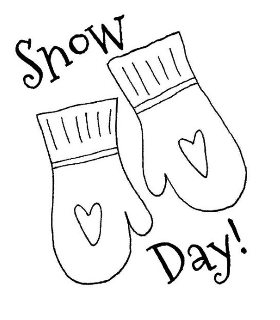 Snow Day Coloring Page Book For Kids