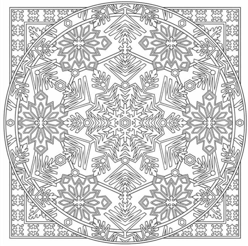 snowflake-mandala-coloring-page | Coloring Page Book