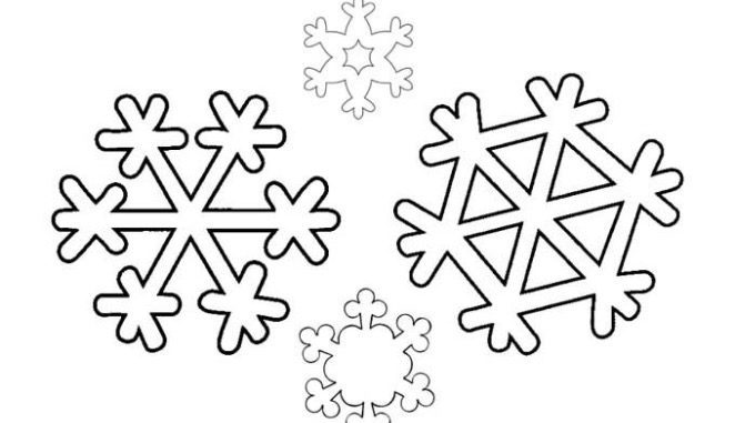 Snowflakes for Coloring coloring page & book for kids.