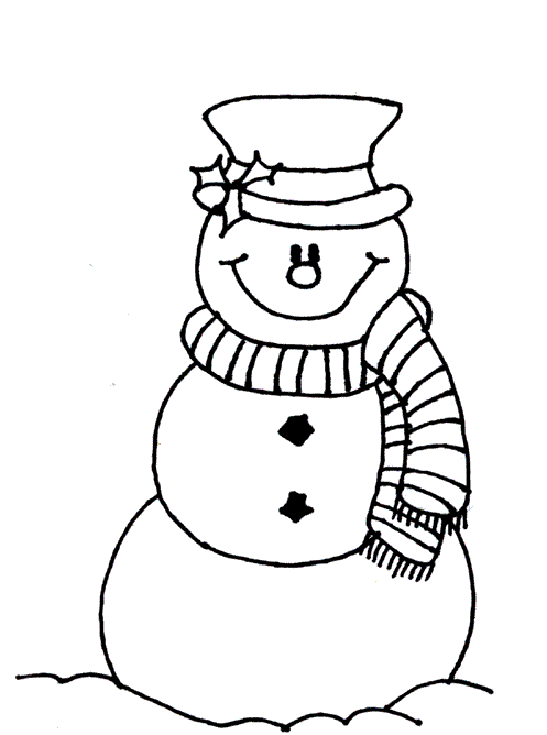 Snowman Coloring Page coloring
