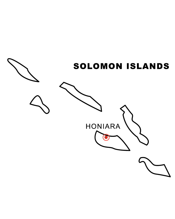 Solomon Islands Map Coloring Page coloring page & book for kids