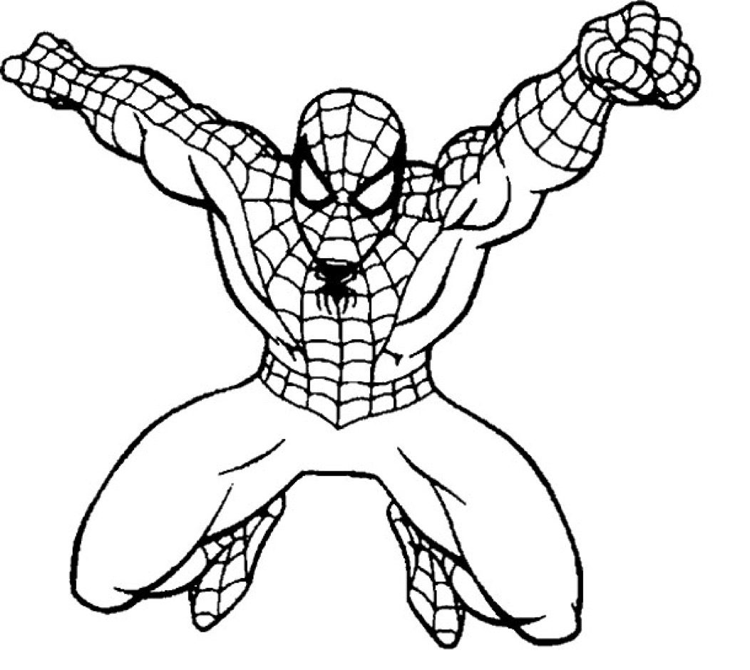Spiderman Coloring Page coloring page & book for kids.