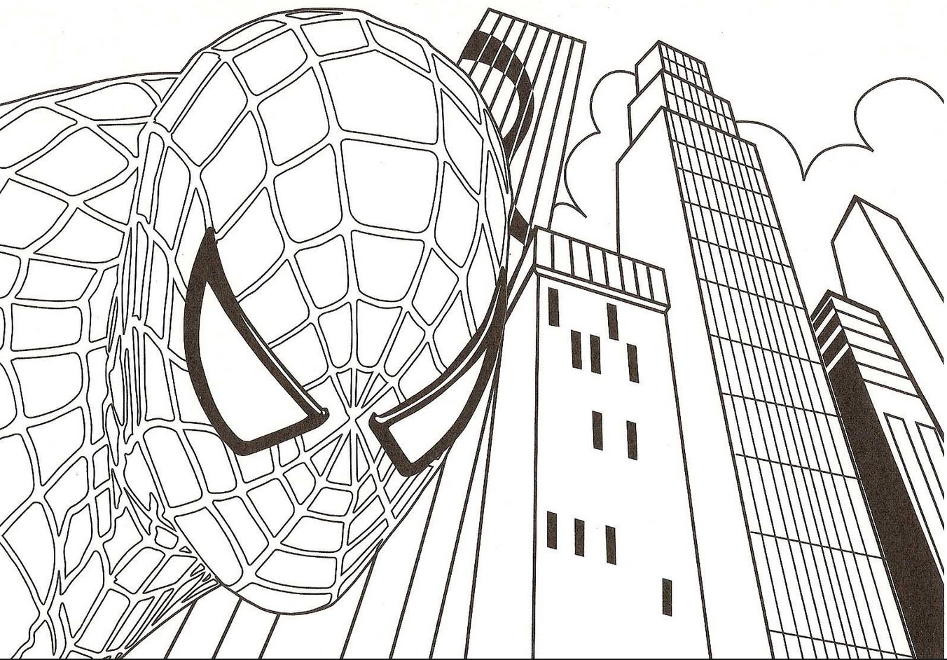 Spiderman Coloring Page Coloring Page Book For Kids