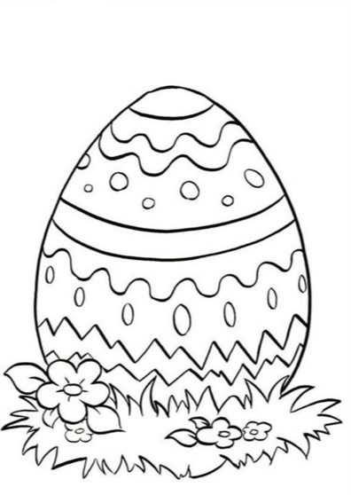 Spring Easter Egg Coloring Page coloring page & book for kids.