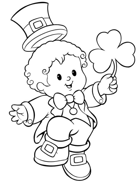 St Patrick's Day Coloring Page coloring page & book for kids.
