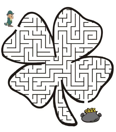 picture regarding St Patricks Day Printable known as St Patricks Working day Printable Maze coloring web page e-book for little ones.
